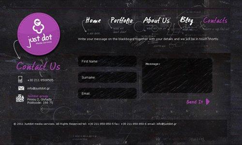 36 imagens de layout de formulários de contato de blogs de design ou sites de design para sua inspiração. (11)