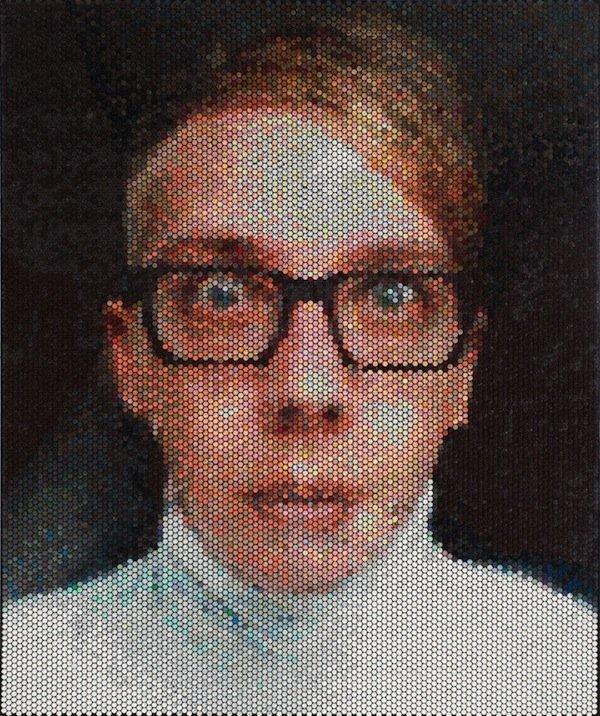 Belos retratos feitos em plástico bolha por Bradley Har (4)