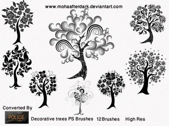 coleção de brushes de florais para baixar grátis (20)