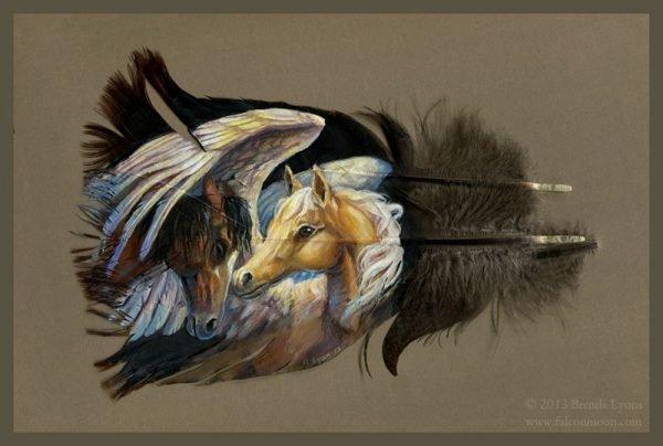 Desenhos de animais feitos em pena de peru super criativo (10)